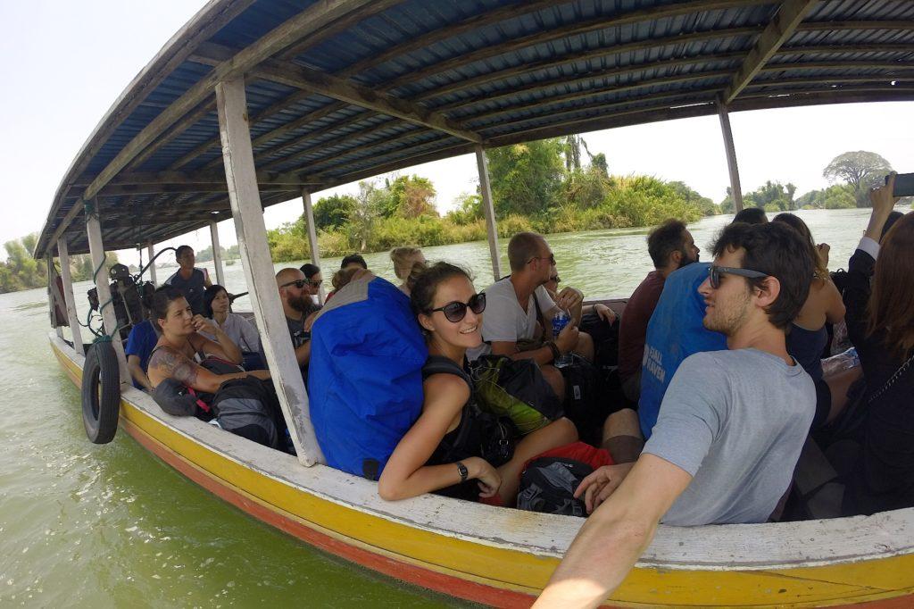 Arrivée Don Det 4000 iles laos blog voyage