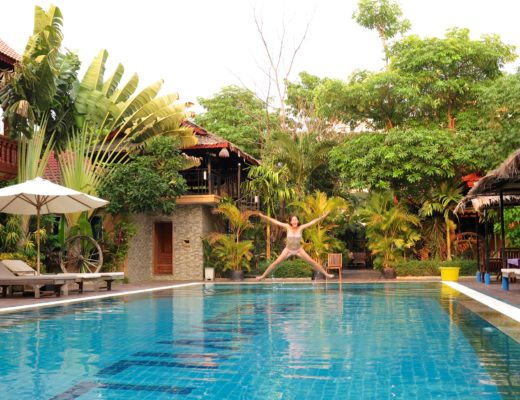 Salto piscine Battambang Cambodge blog voyage 14