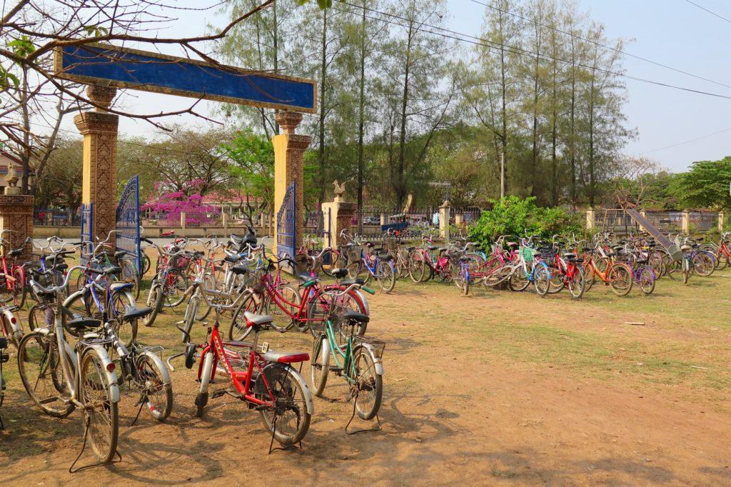 Vélos écoliers Battambang Cambodge blog voyage 8