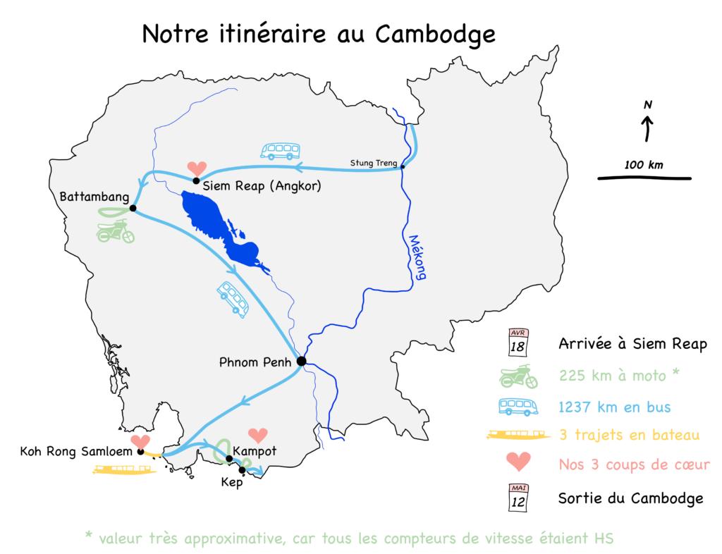 carte bilan Cambodge blog voyage 2016