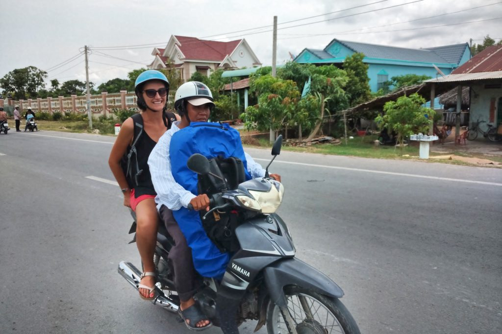 Moto taxi frontiere Can Tho Delta Mekong Vietnam blog voyage 2016 2