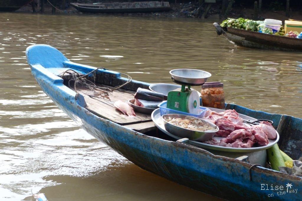 Boucherie marché flottant Phong Dien Can Tho Delta Mekong Vietnam blog voyage 2016 29