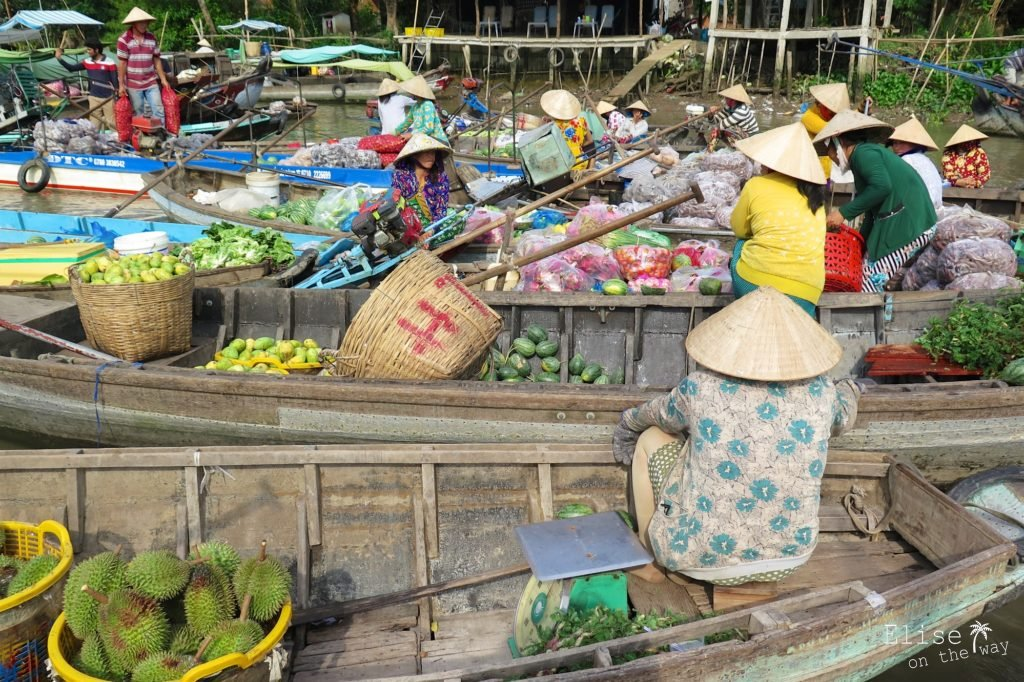 Marché flottant Phong Dien Can Tho Delta Mekong Vietnam blog voyage 2016 31