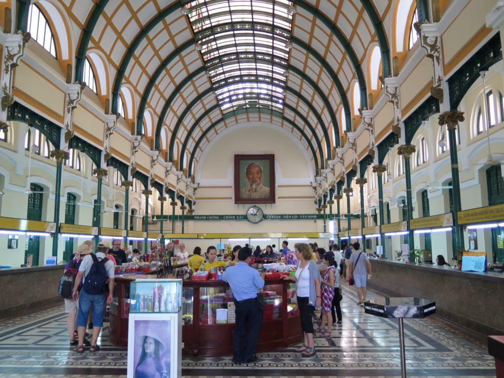Poste Centrale Hochiminh ville Vietnam blog voyage 2016 5