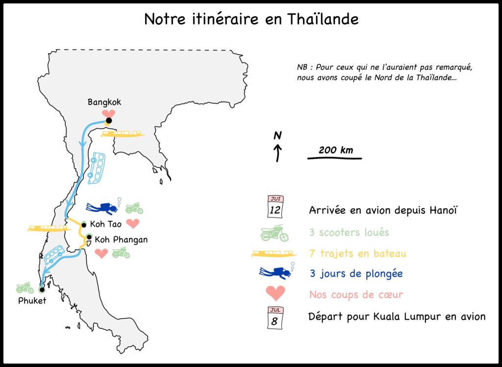 Carte Bilan Thailande blog voyage 2016